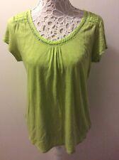 White Stuff Size 14 Green Short Sleeve Top