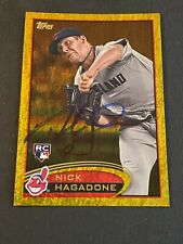 Nick Hagadone Signed 2012 Topps Gold Sparkle RC Card Auto Indians Autograph COA
