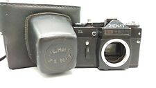 1983 SOVIET ERA BLACK ZENIT-11 35mm SLR Camera M42 Screw Body Leather CaseKamera