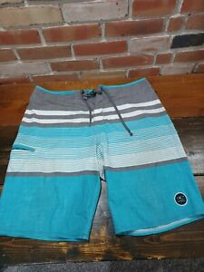 O'Neil Hyperfreak Mens Trunks board shorts Blue/grey/white Size 38