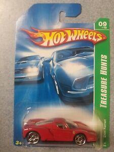 2007 Hot Wheels Enzo Ferrari Vhtf Rare Red Interior 09/12 #129/180