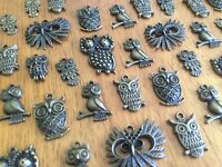 10-100 Bronze Owl Charms for Scrapbooking & Cardmaking