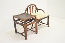 Armchair Furniture Entrance Phone - Vintage - Years 80 Rattan Shabby Chic