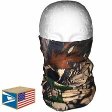 QUICK DRY FACE MASK Real Tree Camouflage HUNTING STRETCH HAT MICRO FIBER CAP!
