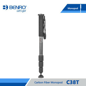 Benro C38T Carbon Fiber Monopod For Video DSLR Camera  Monopods For Camera
