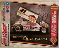 Brian Brown Signed Handout Outlaw Sprint Car 8.5 x 11.  Free Shipping