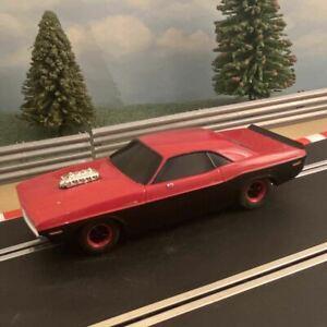 Scalextric 1:32 Car - Red & Black Dodge Challenger *LIGHTS* #K