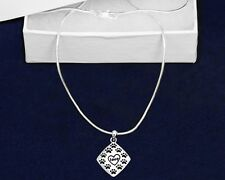 Sterling Silver-Plated Love Paw Dog Cat Pendant Necklace - SALE BENEFITS RESCUE