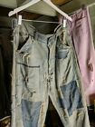 1940s LEE JEANS, UNION MADE, PATCHED, FADED, Denim, Repaired, Farm Fresh