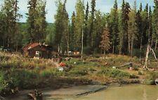 Postcard Homesteader's Cabin Near Fairbanks Alaska