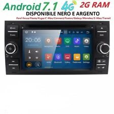 AUTORADIO ANDROID 7.1 PER FORD FUSION FOCUS KUGA FIESTA C MAX STEREO NAVIGATORE