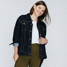 NEW LONG DARK WASH DENIM JACKET (Lane Bryant) Size: 18