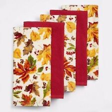 The Big One  Leaf Orchard Kitchen Towels 100% Cotton NIP New 5 Pack
