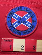 1984 Civil War Texas 4th Lone Star Skirmish Reenactment Patch Clinton Mi 77V3