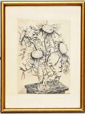 Original Kupferstich von Toni Bichl München handsigniert datiert Mai 1934 Blumen