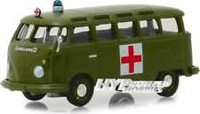 Greenlight 1:64 1964 VW Volkswagen Samba Bus Esercito Ambulanza Verde 29940-a