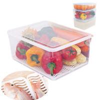 Refrigerator Storage Box Food Container Kitchen Organiser Freezer And Drainboard