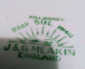 RARE 1912  J & G MEAKIN ENGLAND