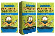 3x Value Pack Garfield Kittibix Catnip Biscuits Tuna Cat Treats 3 Boxes