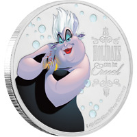 2019 Niue Disney Villains Little Mermaid Ursula 1 oz Silver Proof Coin - IN BOX