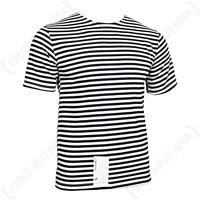 Russian Marines T-Shirt - Black Stripes Telnyashka Military Quality Army Genuine