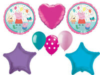 Peppa Pig Balloon Bouquet Birthday Party Supplies Balloons Favors Decoration 8pc