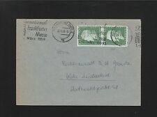 Germany TWO Covers 1959 & 60 Frankfurt & Cotsburg Commemorative Usage 6z