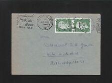 Germany TWO Covers 1959 & 60 Frankfurt & Cotsburg Commemorative Usage 6z