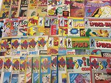 JOB LOT - BUNDLE - OVER 40 UK MARVEL SPIDERMAN COMICS - ALL LISTED AND GRADED