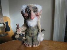 """As Ny-Form Norway 9"""" Grandpa Troll Figure Art No. 111 with Tag"""