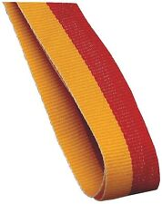 Medal Ribbon / Lanyard Red And Yellow with Gold clip 22mm wide