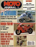MOTO JOURNAL 1005  Essai Road Test YAMAHA RD 56 TD1 C HONDA NR 750 1991