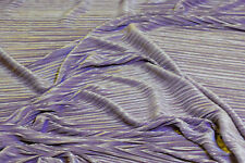 "PLEATED PLISSE SATIN FABRIC LILAC  58"" BY THE YARD"