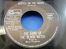 BAND OF THE BLACK WATCH - Scotch On The Rocks / Let's Go To Jersey - 1975 VG+++