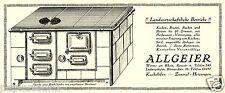 Kachelöfen Allgeier Worms Ludwigshafen Reklame 1926 Herd Ofen Kachelofen Werbung