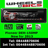 Pioneer DEH-150MP Car Radio CD MP3 Stereo  Front Aux-in Player Red light
