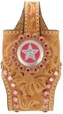 Cowboy Decor Rhinestone Cell Phone Holder Pink