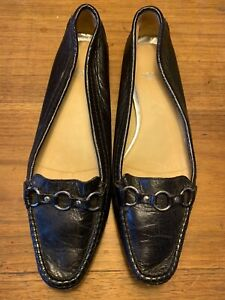 LLOYD Germany Womens Leather Driving Loafer 38 1/2 Made in ITALY