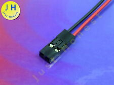 BUCHSE / HEADER 2 polig / ways verdrahtet  Female Connector wired Dupont #A1296