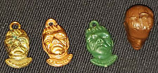1950's - GUM BALL - VENDING MACHINE - FRANKENSTEIN - TOY CHARMS (4) - ORIGINAL