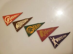 1930's BF3 Red Ball Gum Vintage Mini Pennant Baseball Lot...you get them all!!!