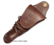 RH m1912 US Cavalry Colt 45 Auto 1911 m1911 Pistol Leather Swivel WWI Holster