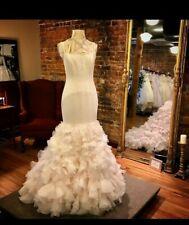 Lace Straps Spaghetti Straps Ball Gown Duchess Wedding Dresses