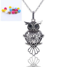 1Pcs Jewelry Locket Necklace Owl Aromatherapy Essential Oils Diffuser