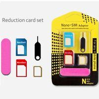 4 in1 Nano SIM Card Adapter+Micro SIM+Stander Sim Karte Simkarte für Iphone A9P7
