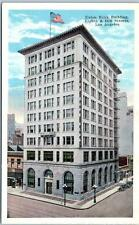 LOS ANGELES, California CA  UNION BANK BUILDING  Eighth & Hill Streets  Postcard