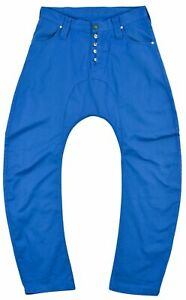 Humor Men's Jeans Denim Straight Casual Blue Pocket Button Zip Size 34 Genuine