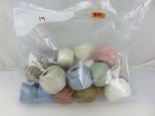 DMC Skein Balls Floss Thread Embroidery Yarn 19pc Lot #901 Assorted Colors
