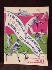 VINTAGE 1963 Los Angeles Dodgers Yearbook, World Series Champs, Sandy Koufax!!