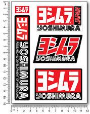 Yoshimura échappement autocollants 5 stickers décalque composite moto suzuki GSXR HONDA